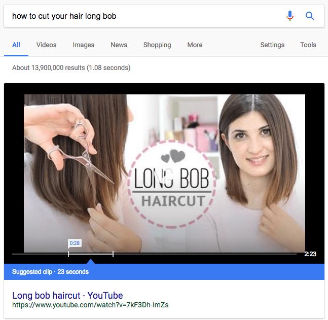 YouTube強調スニペット(クリップ)