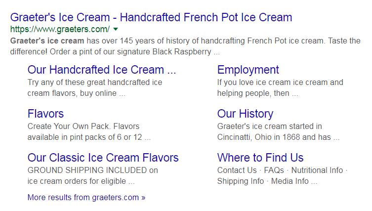 グレーターアイスクリームサイトリンクGoogle