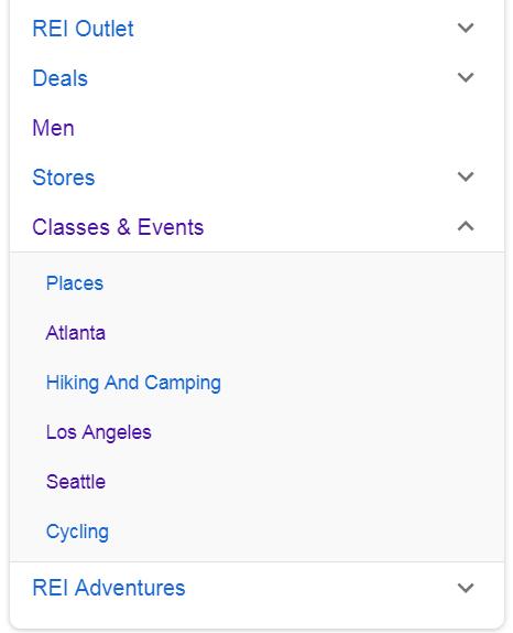 REI「教室、イベント」サイトリンク